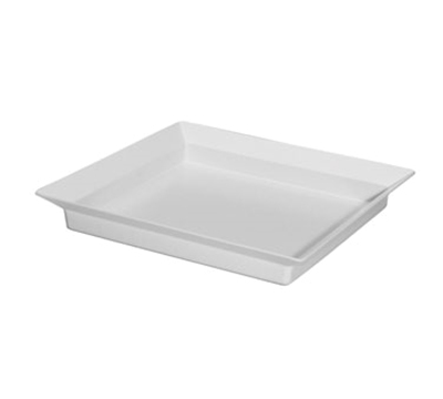 "Cal-Mil CD252 Cold Concept Platter Liner - 10x10x1"", Plastic, White"