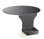 Cal-Mil DM005 Drip Tray w/ Round Base Support & 6-in Drop, Black Plastic