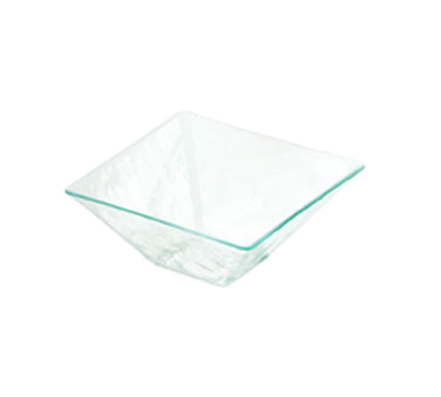 "Cal-Mil GL250-43 7"" Square Glacier Bowl - Acrylic, Green"