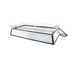 "Cal-Mil IP201-110 Rectangular Ice Display Pedestal - Ice Pan, Drainage System, 24x48x14"", Black, 110v"