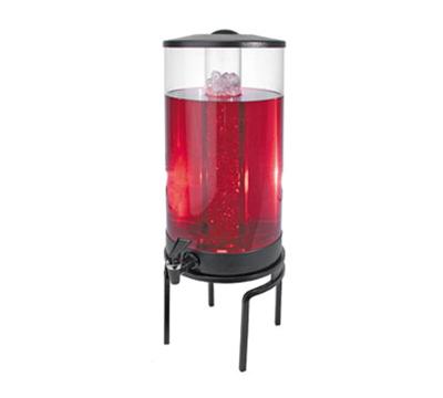 Cal-Mil JC301-13 3-gal Round Gourmet Beverage Dispenser - Lid, Spigot, Acrylic, Black