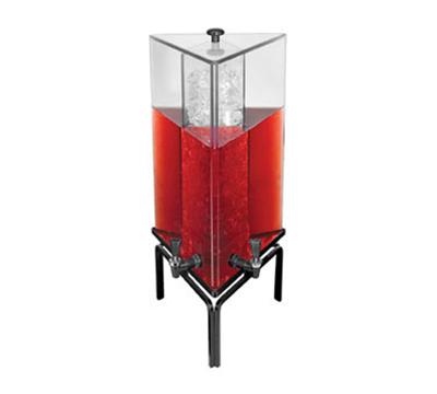 Cal-Mil JC303-13 4.2-gal Triangular Gourmet Dual Spigot Beverage Dispenser - Acrylic, Black