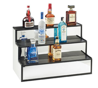 Cal-mil LQ30 3-Tier Liquor Display - Mirror, Black