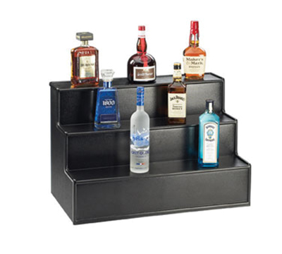Cal-Mil LQ32-13 3-Tier Liquor Display - Laminated, Black