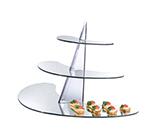 Cal-Mil MT100 3-Tier Gourmet Mirror Riser - Mirror, Acrylic, Black