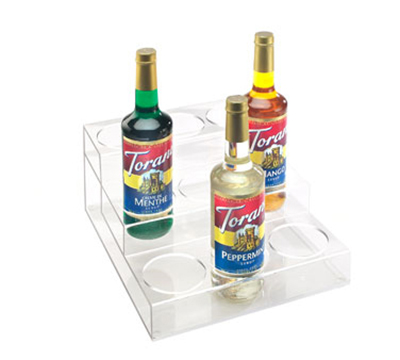 Cal-Mil P296 3-Tier Bottle Organizer w/ 9-Bottle Capacity, Clear