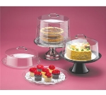 Cal-mil P311 12-in Round Clear Acrylic Pie Cover w/ Flat Top, 9-in High
