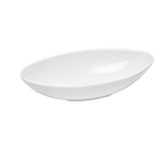Cal-Mil PP1151 24-oz Canoe Shaped Bowl - Porcelain, Bright White