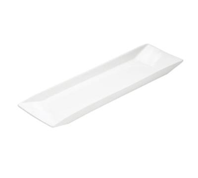 """Cal-Mil PP151 20"""" Rectangular Platter - Porcelain, Bright White"""