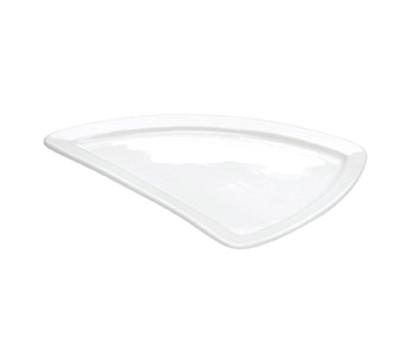 """Cal-Mil PP650 13"""" Triangle Platter - Porcelain, Bright White"""
