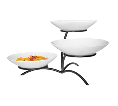 Cal-Mil PP703-13 3-Tier Round Bowl Display - Porcelain, Black
