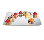 "Cal-Mil PT123 Rectangular Gourmet Display Mirror Tray - 8x12"", Acrylic"