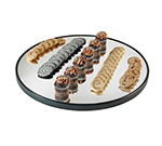 "Cal-Mil RR240 24"" Round Gourmet Display Mirror Tray - Black Acrylic, Glass"