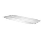 """Cal-Mil SR152 Rectangular Sierra Platter - 23x7x1"""", Melamine, White"""