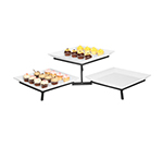 Cal-Mil SR1600-13 2-Tier Square Sierra Platter Display Stand - Podium Style, Black