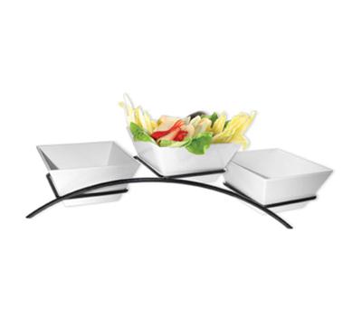 Cal-Mil SR2020-13 3-Tier Square Gourmet Arch Bowl Display - Melamine, Black