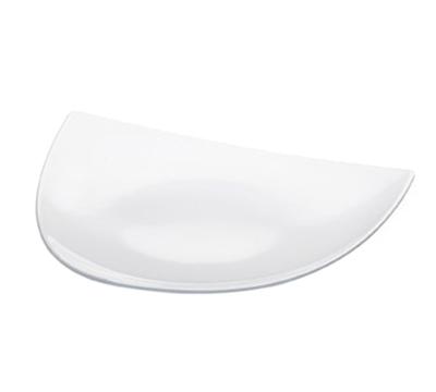 """Cal-mil SR650 Triangular Sierra Platter - 17x17x2"""", Melamine, White"""