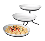 Cal-Mil SR900-13 3-Tier Oval Sierra Display Stand - Melamine, Black