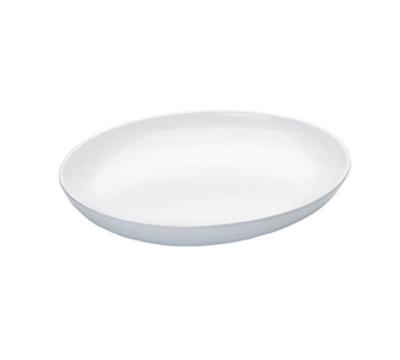 """Cal-Mil SR950 12"""" Oval Sierra Platter - 3-1/2-qt., Melamine, White"""