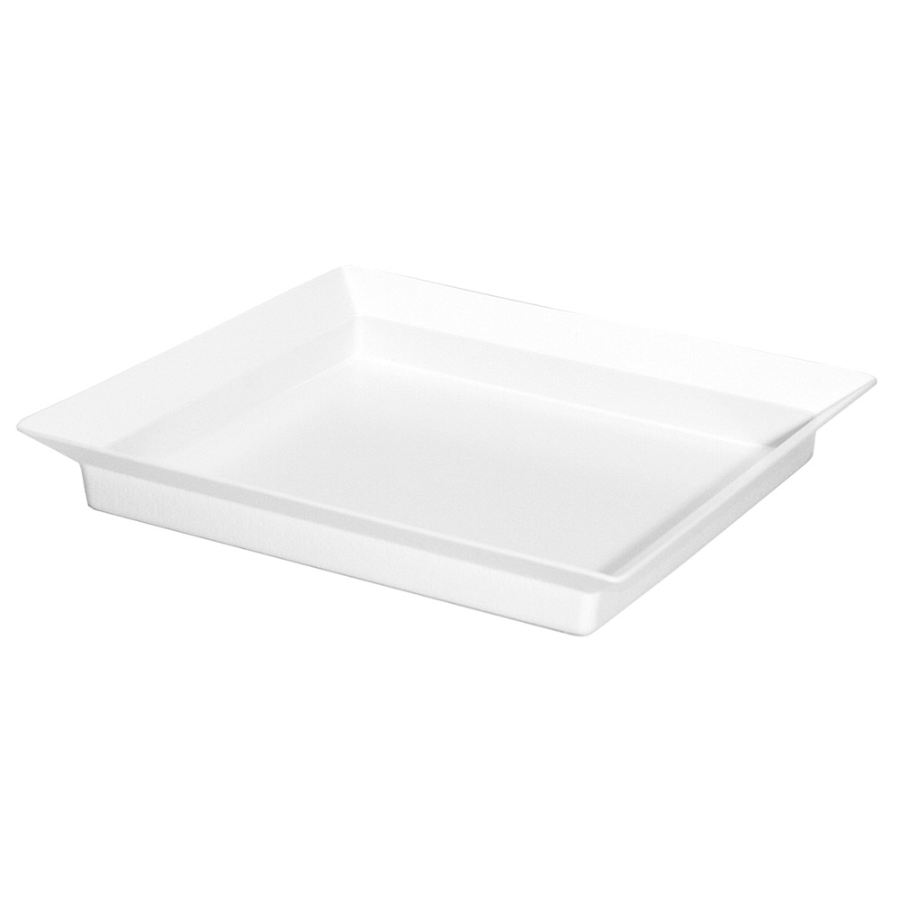 "Cal-Mil CD252 Cold Concept Platter Liner - 10x10x1"", Plastic, White"
