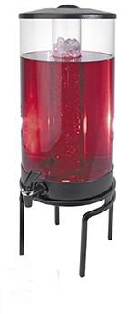 Cal-Mil JC302-39 1-1/2-gal Round Gourmet Beverage Dispenser - Lid, Spigot, Acrylic, Platinum