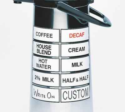 Cal-Mil 338-COFFEE Magnetic Airpot Sign, Coffee
