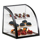 Cal-Mil P255-13 Countertop Display Case w/ Rear Door & Euro Front, Black Fr