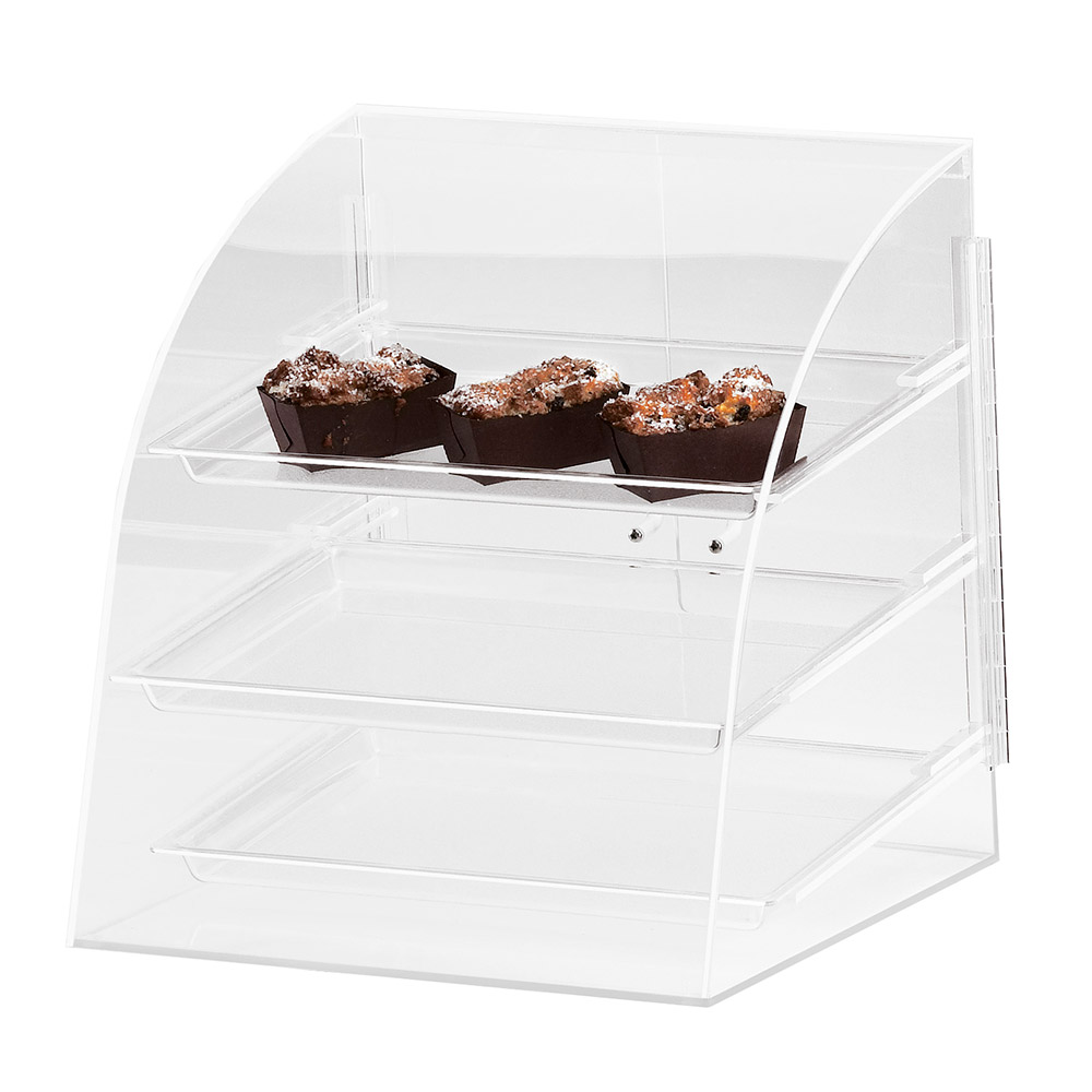 Cal-Mil P255 Countertop Display Case w/ Rear Door & Euro Front, Clear Acrylic