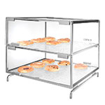 Cal-Mil PC200-39 2-Tier Gourmet Pastry Case - Clear, Platinum