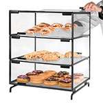 Cal-Mil PC300-13 3-Tier Gourmet Pastry Display Case - Clear, Black