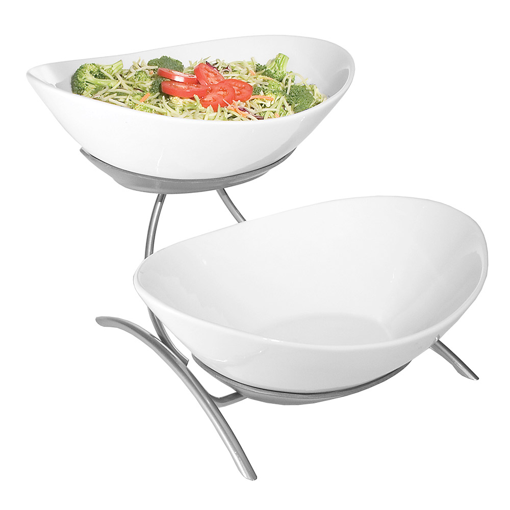 Cal-Mil PP2100-39 Bowl Display - Porcelain, Platinum