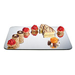 "Cal-Mil PT323 Rectangular Gourmet Display Mirror Tray -24x32"", Acrylic"
