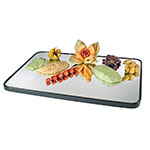 "Cal-Mil RR403 Rectangular Gourmet Display Mirror Tray - 24x40"", Black Acrylic Trim, Glass"