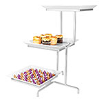 "Cal-Mil SR2301-39 3-Tier Sierra Strata Tower Display - 16x22x26"", Melamine, Platinum"