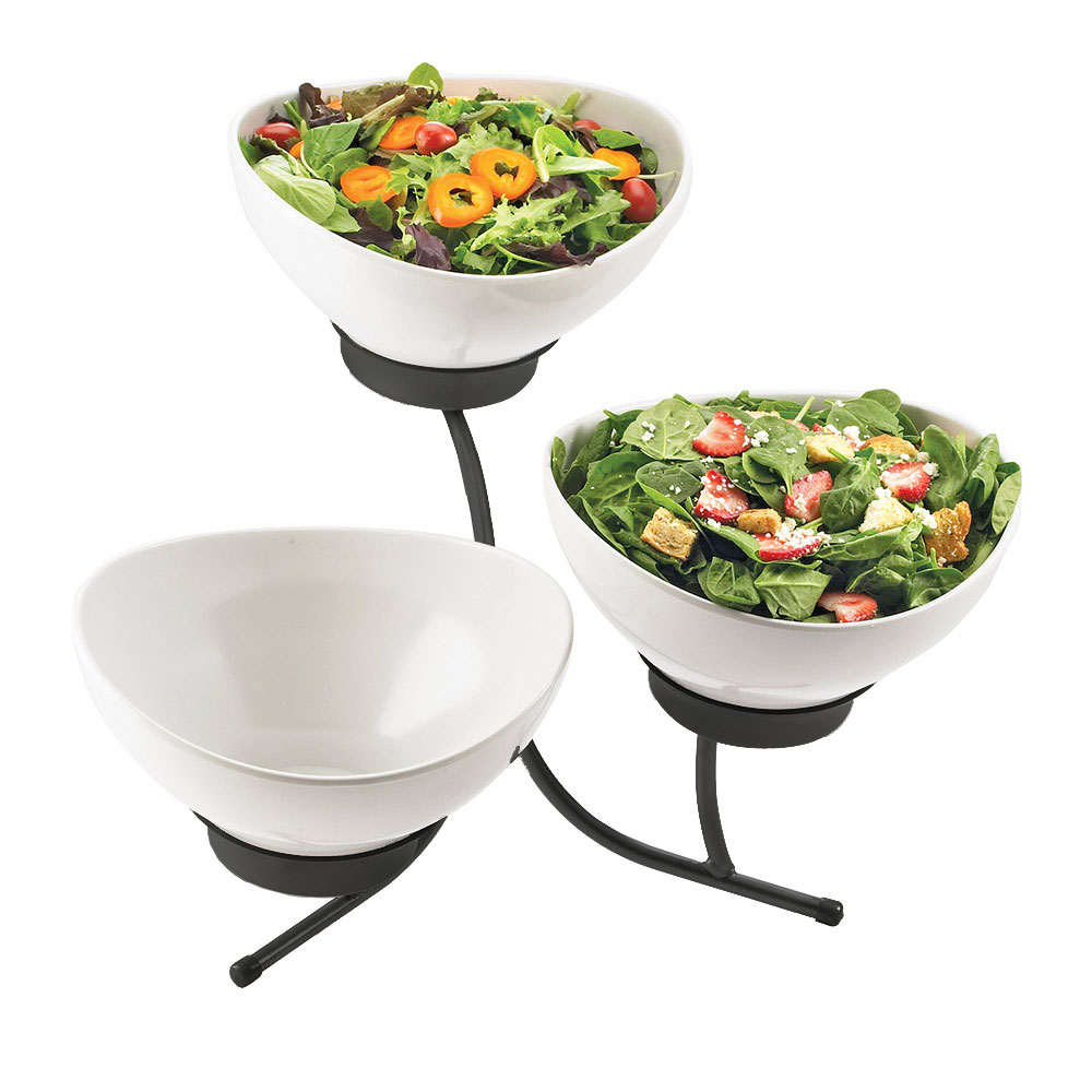 Cal-Mil SR701-13 3-Tier Sierra Tulip Display - Melamine, Black