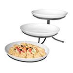 Cal-Mil SR900-39 3-Tier Oval Sierra Display Stand - Melamine, Platinum