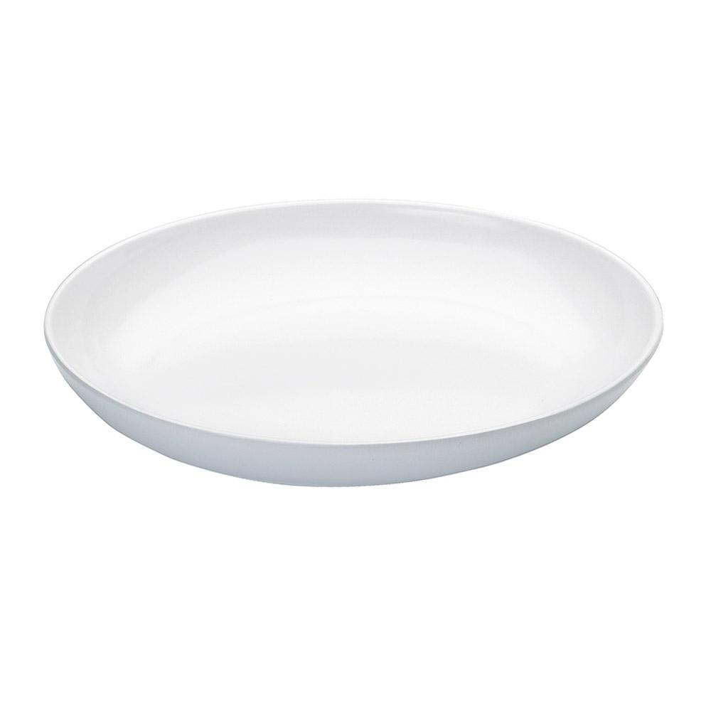 """Cal-Mil SR950 12"""" Oval Melamine Platter - 3-1/2-qt., Sierra, White"""