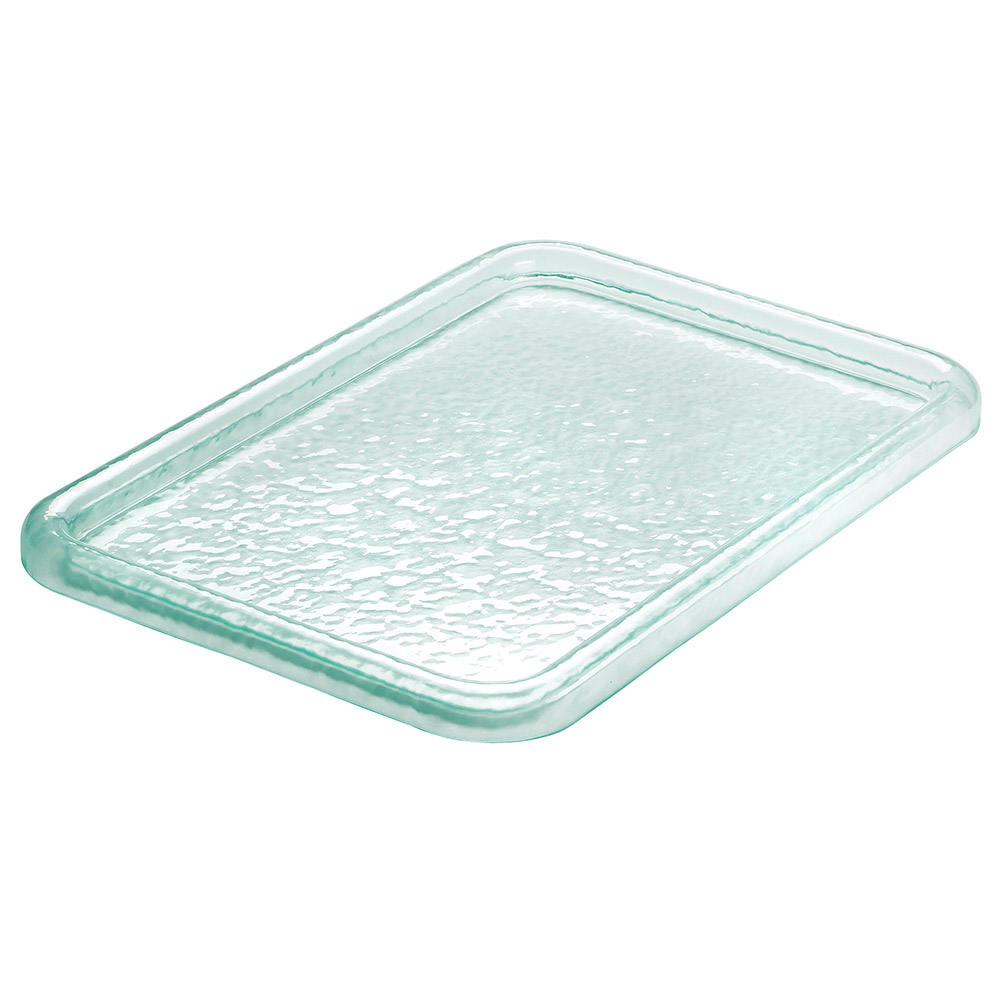 Cal-Mil UG101-43 Rectangular Gourmet Glacier Serving Tray - acrylic, Green