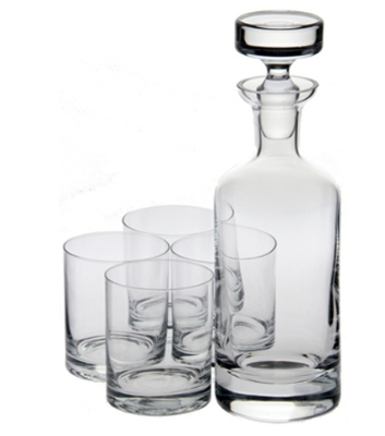 Ravenscroft W6826 32-oz Wellington Double Old Fashioned Decanter & Wine Glass Set