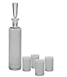 Ravenscroft W7383 23.5-oz Crystal Vodka Decanter & Shot Glass Set