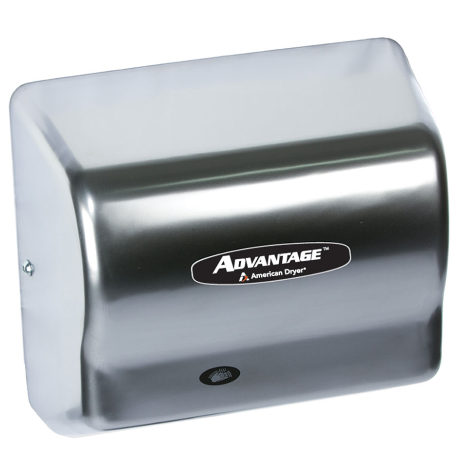 American Dryer AD90-CH Hand Dryer w/ 80-Second Dry Time & Auto Sensor, Satin Chrome