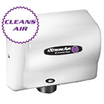American Dryer CPC9 Hand Dryer - High Speed, Cold Plasma Clean, White ABS