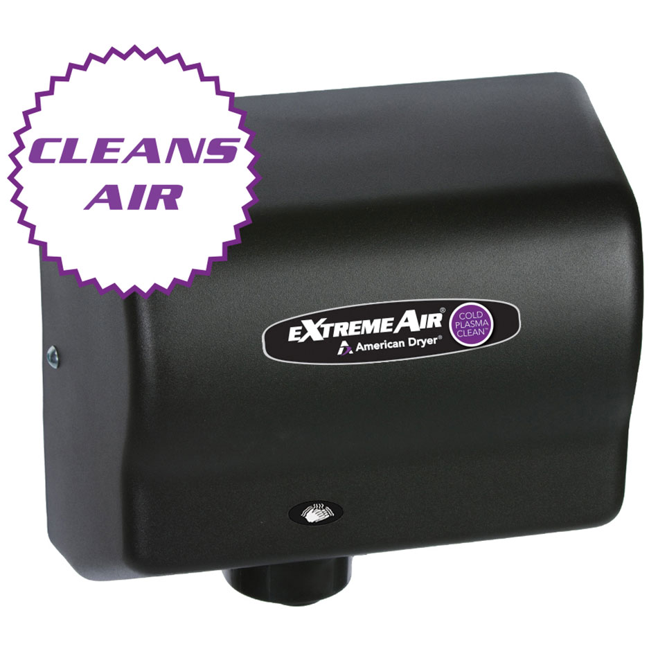 American Dryer CPC9-BG Hand Dryer - High Speed, Cold Plasma Clean, Steel Black Graphite