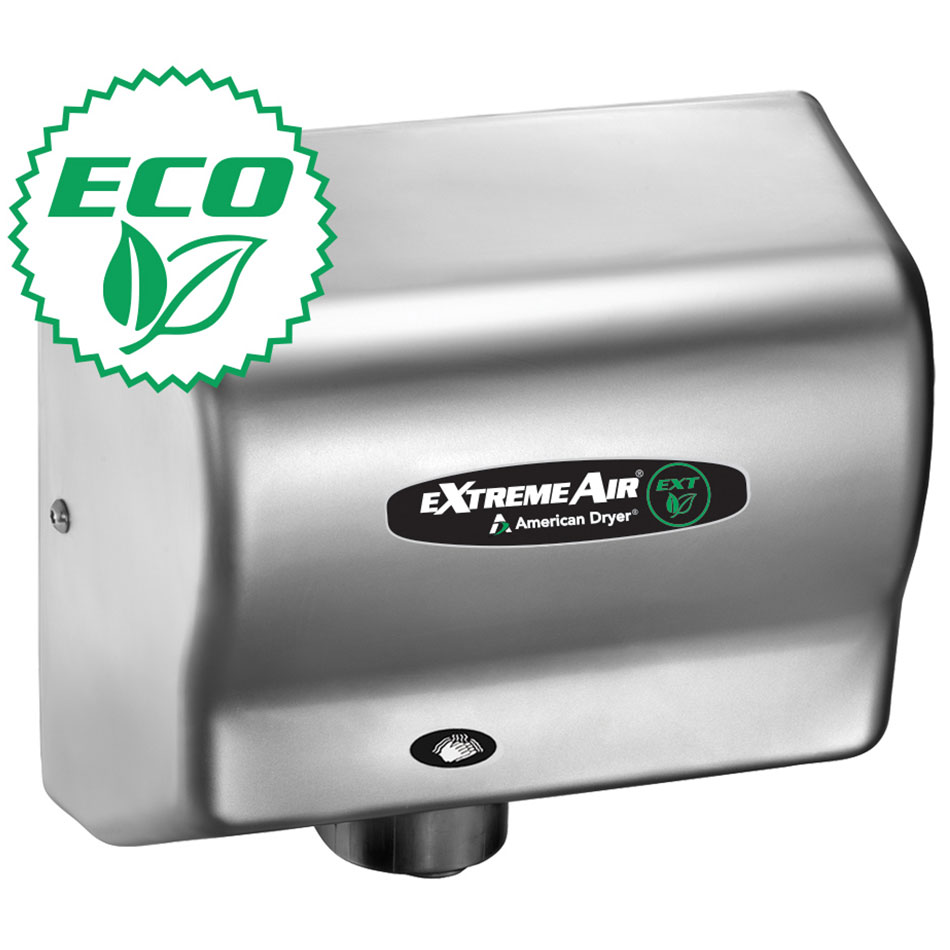 American Dryer EXT7C Hand Dryer w/ 12-15 Second Dry Time & Automatic Sensor, Satin Chrome