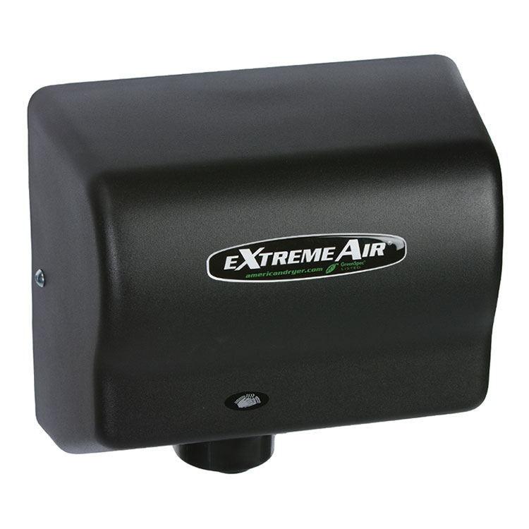 American Dryer GXT9BG Hand Dryer - Auto Sensor, 10-12-Dry Time, Black Graphite