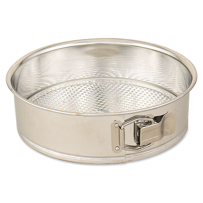 Browne Foodservice 010CP Cake Pan, Spring Form, 10 in Diameter, 2-1/2 in Deep, Polished Tin