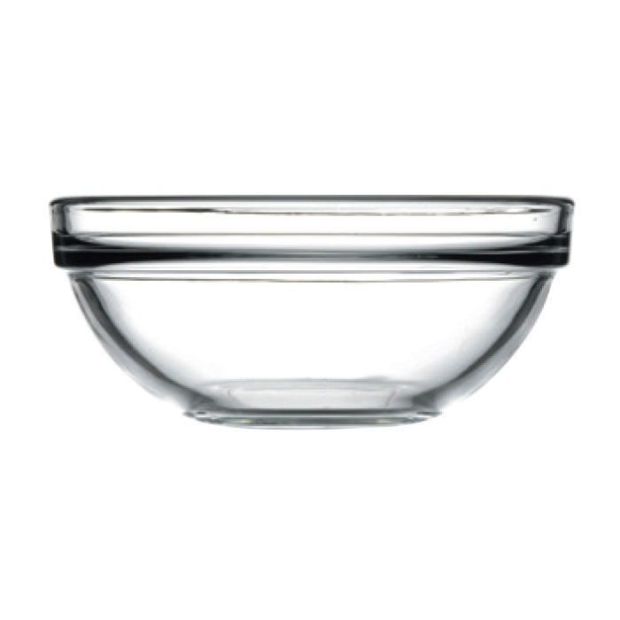 Browne 1004772 11.25-oz Pasabahce Chef Bowl - Glass, Clear