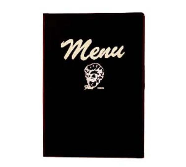 Browne 101B Menu Cover with Printed Menu Inserts, 7 x 9-1/2 in, Heat-Sealed Edges