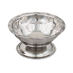 Browne Halco 1043 Sherbert/Sundae Dish, 3-1/2 oz, Stainless Steel, Gadroon Base