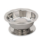 Browne Halco 1045 Sherbert/Sundae Dish, 5 oz, Stainless Steel, Gadroon Base